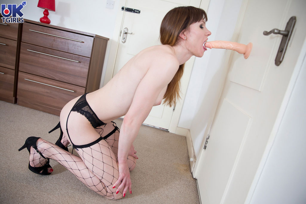 Housewife UK TS wanking dicks.