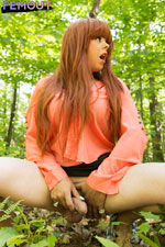 Kelly Monrock cums in the forest.