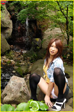 Asian Tgirl diva in nature posing