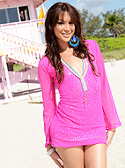 Gorgeous Jonelle Brooks in sexy pink dress gallery.